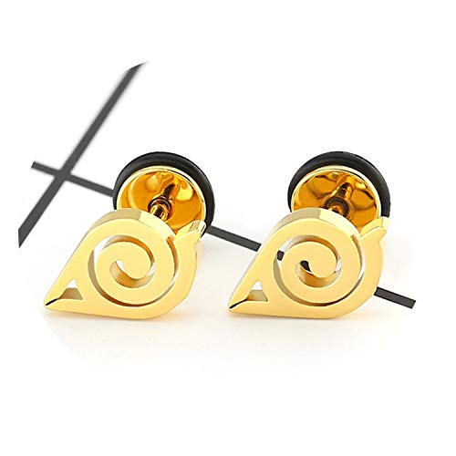Daawqee Lusso Orecchini, Stainless Steel Stud Earring For Women Men Fashion Gold Silver Black Color Ear Jewelry Gifts Rose