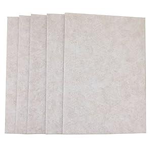 Merlinae Premium Möbel-Filzpads, 21x 30cm, 5mm dick, für Zubehör, rechteckig, Tisch-Filz-Pads zum Schutz von Holzböden, 5Stück Cremefarben/Weiß