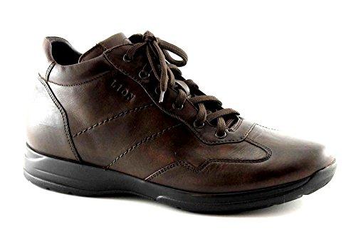LION 8498 marrone tm scarpe uomo polacchini scarponici mid lacci 47