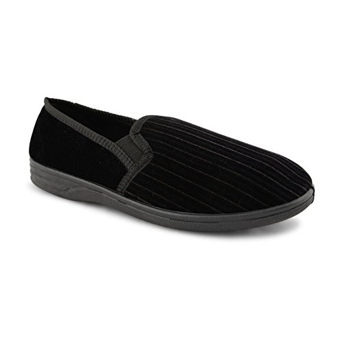 Footwear Sensation ,  Herren Flache Hausschuhe Albert Black
