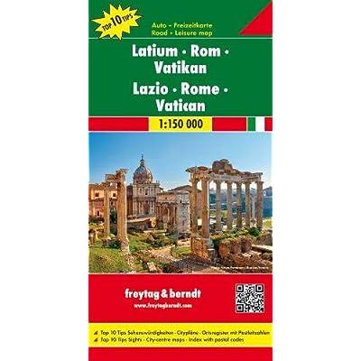 Lazio - Rome - Vatican Road Map 1:150 000