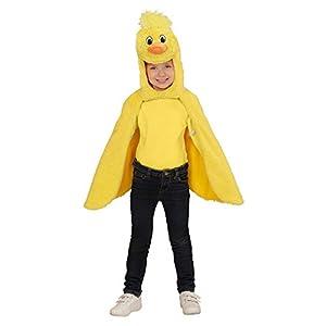 WIDMANN Disfraz para Niños Pollito de Peluche, Capa con Capucha y máscara