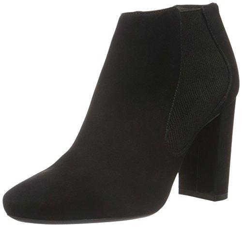 Bronx Damen Minola Kurzschaft Stiefel, Schwarz (Black 01), 38 EU (Bronx Leder Heels High)
