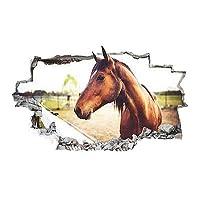 Horse Cute Pony Girl Bed Kids Vinyl Poster Livingroom Wall Decal Art 3D Stickers (Medium (52x30cm))