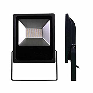 LUMiLiFE SMD-Flutlicht, 50 W, IP65, Warmweiß, Schwarz, Sensor