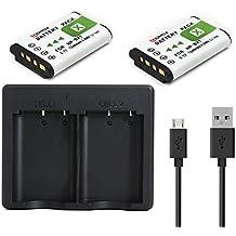 QUMOX 2x Baterías + NP-BX1 Cargador doble USB para DSC-RX1 WX300 HX50V DSC-RX100