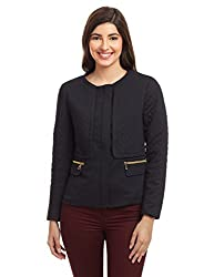 United Colors of Benetton Womens Jacket (16A2GS1D6609IA1640_Black)