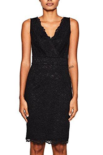ESPRIT Collection Damen 047EO1E011 Kleid, Schwarz (Black 001), 38