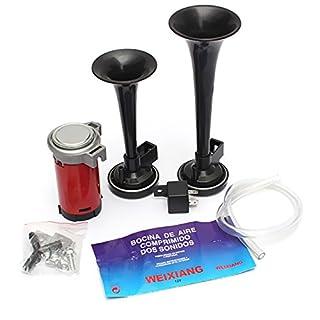 ePathChina Lufthupenkompressor, 12 V, 178 dB, mit Doppeltrompete, sehr laut, für Auto, Boot, LKW
