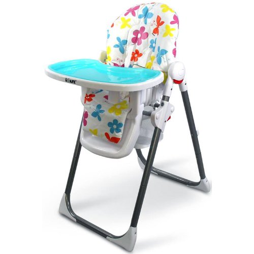 iSafe MAMA Highchair – Le Fleurs Recline Compact Padded Baby High Low Chair Complete With Double Tray & Storage Basket 41YPpC9xuXL