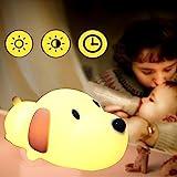 Nachtlicht Kinder LED Nachttischlampe Schlummerlicht Stimmungslicht USB-Ladeoption Silikon Nachtlichter für Babyzimmer, Schlafzimmer, Wohnräume, Camping, Picknick Warmes (Stil 1)