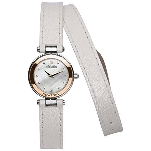 Michel Herbelin Newport Yacht Club Women's Watch white/silver/rose gold 17455/TR19BLAL