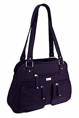 EyeCatchBags - Larisa Damen Handtasche aus Kunstleder, Dark Aubergine