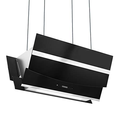 campana extractora isla 90cm profesional Diagonal estilo cocina negra KKT KOLBE