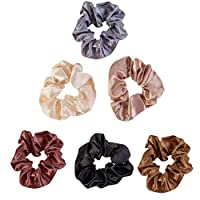 Moneycom 6 Pcs Hair Band Wavy Hair Band Shrink Hair Rope Ladies and Girls Hair Accessories Turban Solid Headband Multicoloured