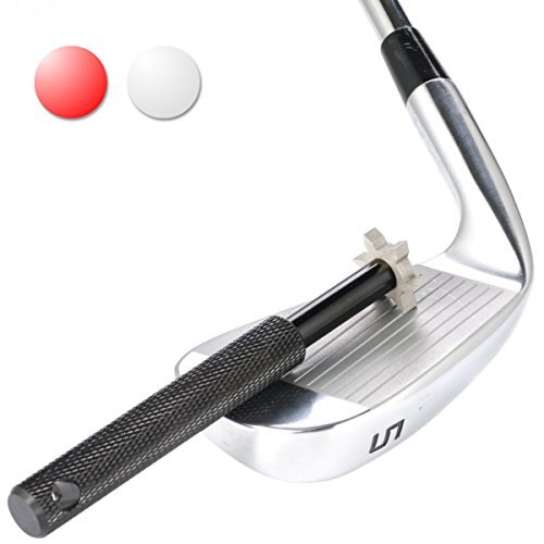 Golf Club Groove Sharpener. Golf club cleaner and club repair. Golf accessory improves backspin & ball control on all your wedges and irons. (Black)