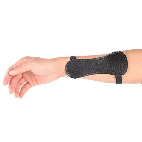 Outdoor-shooter Kinder Bogenschießen Arm Guards Unterarm Schutz Gears Finger Tab Verstellbare Straps für Schießen Jagd Praxis (Schwarz) -