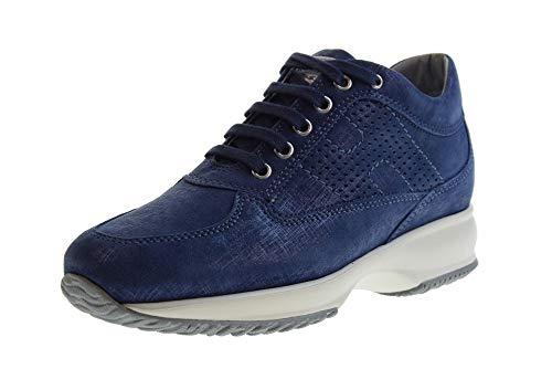 HOGAN Zapatos Mujer Zapatillas Bajas HXW00N00E30KAYU803 Interactive H BUCATA Talla 34 Azul