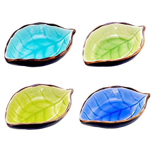 Descripción:  Nombre: Plato pequeño de cerámica.  Material: cerámica  Embalaje: paquete de cartón independiente  Peso: solo plato es alrededor de 106g  Color: azul lago, azul oscuro, amarillo claro, verde claro  Lista de empaque:  Platos * 4