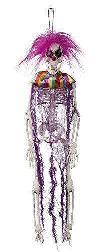 toybakery - Halloween Dekoration Hänge Deko Horror Geister Skelett Totenkopf Eines Clowns, 40cm, Zombie Ghost Skeleton Skull of a Crazy Clown ideal für Jede Halloween Party / Feier, Violett