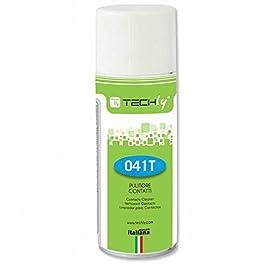 Techly 023479 Spray di Pulizia 400ml per contatti Elettrici ed Elettronici Trasparente