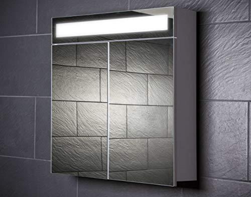 Galdem Spiegelschrank, Holz, Weiß, 70x65x15 cm -