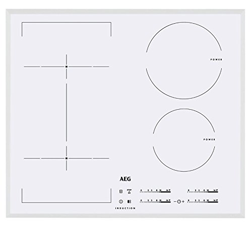 AEG – Table de cuisson à induction hKL 65416 FW Finition blanc, de 60 cm