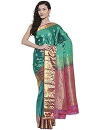 The Chennai Silks - Dharmavaram Silk Saree - Pepper Green - (CCMYSS7531)