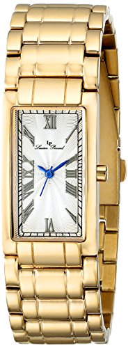 Lucien Piccard 12982-YG-22S 40X20mm Gold Steel Bracelet & Case Mineral Women's Watch