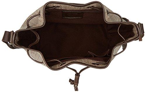 Timberland Tb0m5568, Borsa a Secchiello Donna, 17x32x27 cm (W x H x L) Beige (Dark Rubber)