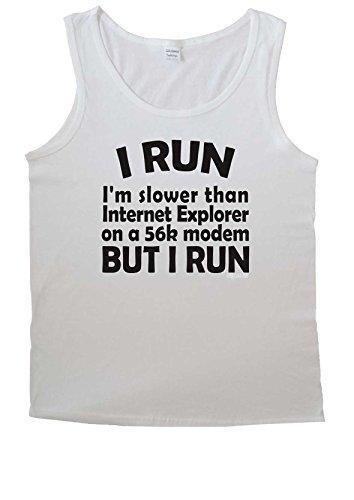 I Run I'm Slower Than Internet Explorer 56K Modem For Men Vest Tank Top T Shirt