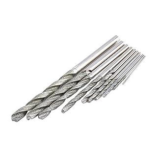 10Pcs DMD Diamond Tipped Drill Bit Set Twist Drill Bits For Glass Tile Stone 0077