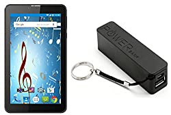 I KALL N9 Dual Sim 3G Calling Tablet (black) with 2600 mah power bank- black