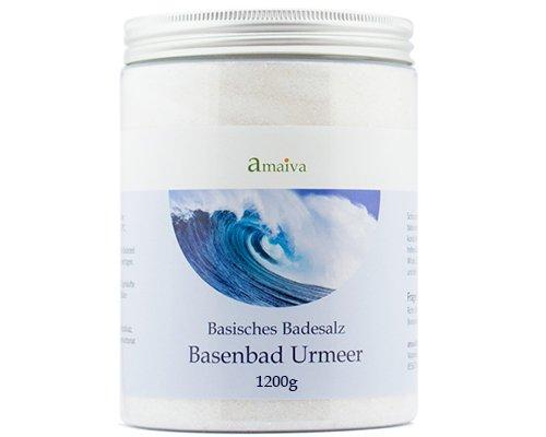 Basenbad Urmeer 1.200g (basisches Badesalz - für basische Körperpflege, Basenbäder, Fußbad und Wickel bei einem pH-Wert des Wassers über 7,5)