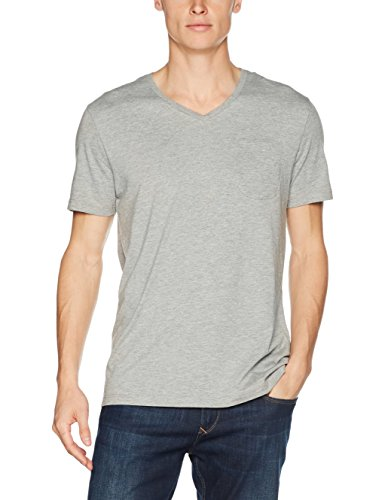 Tommy Hilfiger Herren T-Shirt Vn Tee Ss Grau (Grey Heather 004)