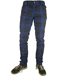 Rock Rag Tartan Pants, Color Blue