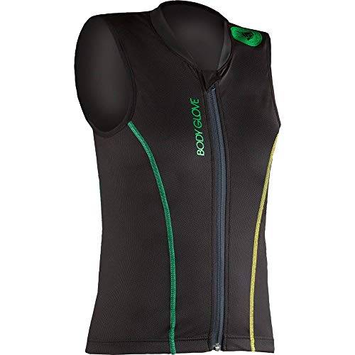Body Glove Kinder Lite Pro Rückenprotector, Black/Green/Yellow, 140