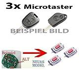 3x Für 106 206 207 306 307 406 Fernbedienung Funkschlüssel Schlüssel Mikroschalter SMD Taster Microschalter