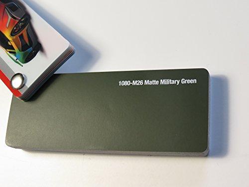 3M Scotchprint Wrap Film Series 1080 Matt Militär Grün gegossene Autofolie 100 x 152 cm Zuschnitt -