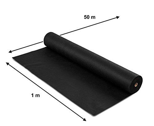 Springreen Premium Unkrautvlies – 50m² – 50g/m² – Extra Reißfestes und UV stabilisiertes Gartenvlies zur Verhinderung von Unkraut