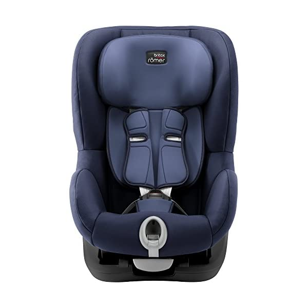 Britax Römer King II Black Series Group 1 (9-18kg) Car Seat - Moonlight Blue  Easy installation - with tilting seat and patented seat belt tensioning system Optimum protection - performance chest pads, deep, padded side wings 3