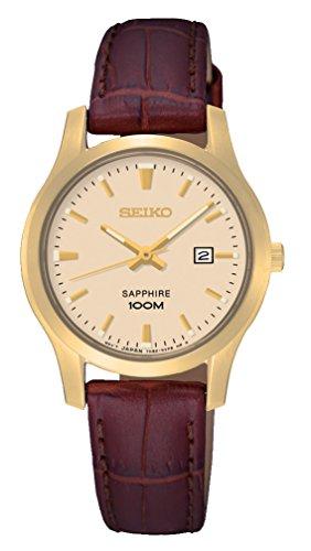 Seiko Damen-Armbanduhr Analog Quarz Leder SXDG66P1