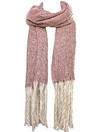 Mevina Schal Wollschal XXL mit langen Fransen und Wolle Winterschal groß rechteckig warmer Winter Schal