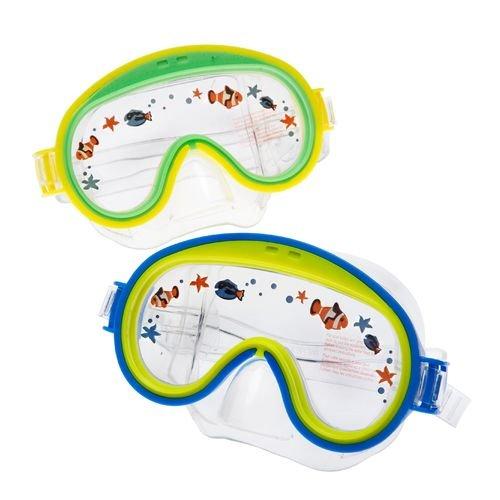 """Preisvergleich Produktbild Intex 55911, Schwimmmaske - Taucherbrille - Tauchermaske """"Mini Aviator"""" von 3 - 8 Jahre in 2 Farbvarianten (gelb-orange)"""