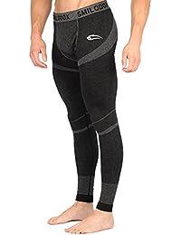 SMILODOX Tights Herren | Seamless - Sporthose mit Kompressionsfunktion für Sport Fitness Gym Training & Laufen | Sporthose - Workout - Muskelaufbau - Trainingshose Lang