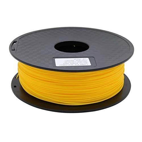 Wang-n-j-3d, zonestar shipping from russia filamento stampante 3d materiali di consumo in plastica pla 1,75 mm 28 colori 1kg / roll (colore : giallo)