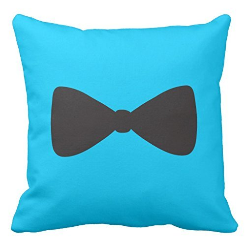 Zierkissenbezüge Black Bow Tie Polka Dot Couch Cushion Cover Case Home Decorative Throw Pillow Cover for Sofa Outdoor Pillowcase 45 x 45cm