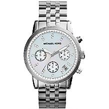 Michael Kors MK5020 - Reloj de cuarzo con correa de acero inoxidable para mujer, color nácar