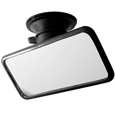 Summit 2433902 RV-34 Large Flat Glass Mirror with Suction Pad