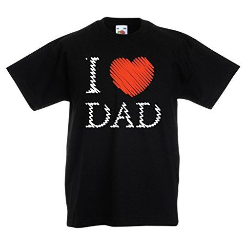 Kinder T-Shirt Ich liebe mein Vati - Vatertagsgeschenk (7-8 years Schwarz Mehrfarben) Ich Liebe Meine Armee-mann